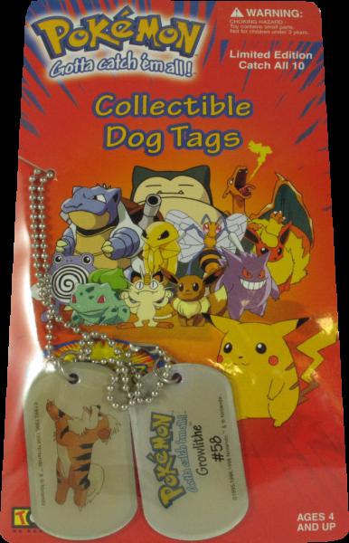 Pokemon Dog Tag Growlithe #58