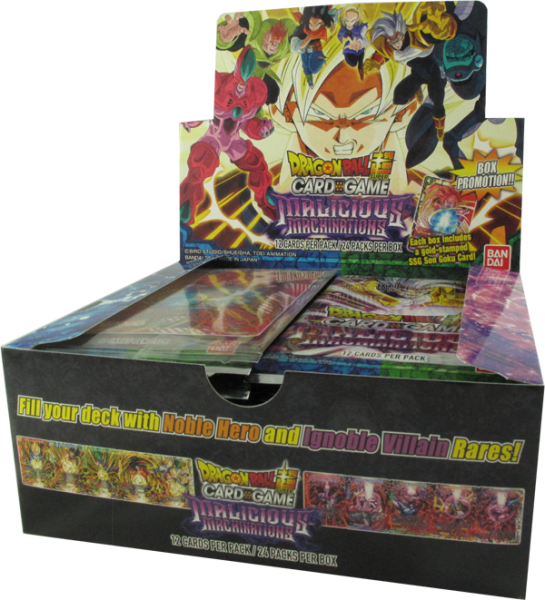 Dragonball Super Malicious Machinations Booster Display englisch