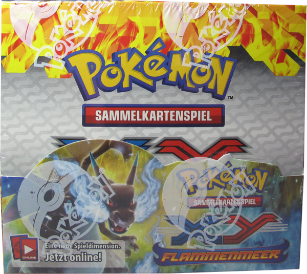 Pokemon XY Flammenmeer Booster Display