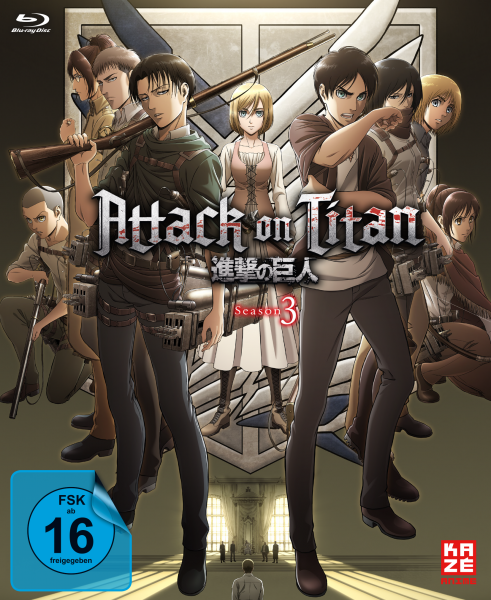 Attack on Titan 3. Staffel Vol. 01 Blu-ray + Sammelschuber
