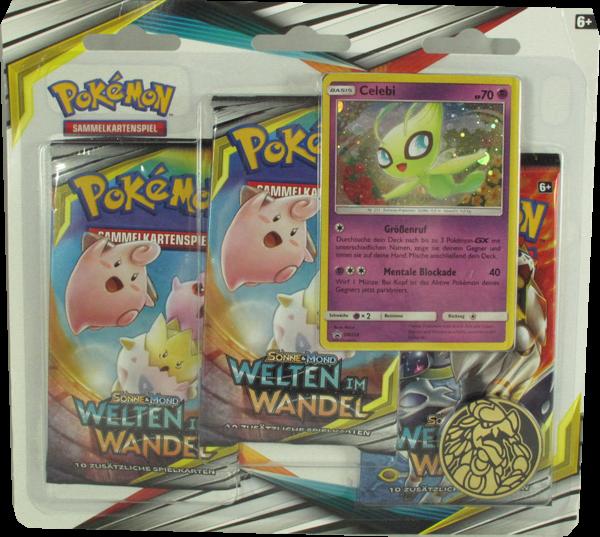 Pokemon Sonne & Mond Welten im Wandel 3er Blister Celebi Einzelkarte