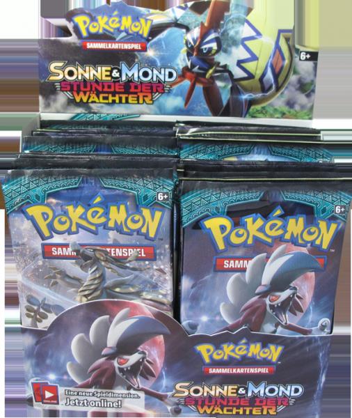 Pokemon Sonne & Mond Stunde der Wächter Booster Display