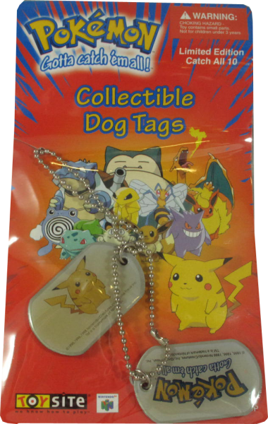 Pokemon Dog Tag Pikachu