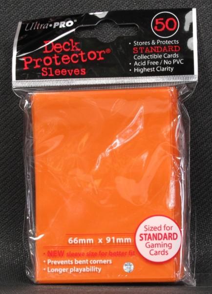 Ultra Pro - Standard - Orange - 50 Hüllen - Deck Protector Sleeves