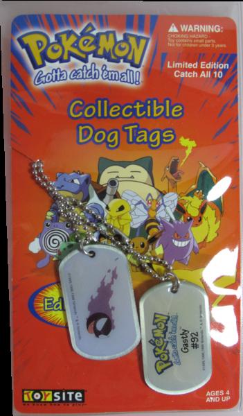 Pokemon Dog Tag Gastly #92