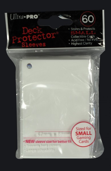 Ultra Pro - Small - White - 60 Hüllen - Deck Protector Sleeves