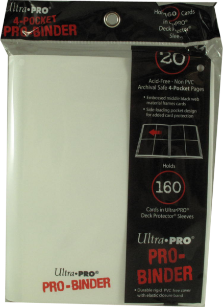 Ultra Pro 4-Pocket Pro-Binder - white