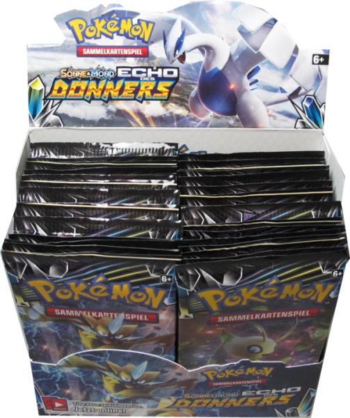 Pokemon Sonne & Mond Echo des Donners Booster Display