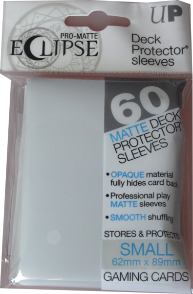 Ultra Pro - Small - Pro-Matte Eclipse - White - 60 Hüllen - Deck Protector Sleeves