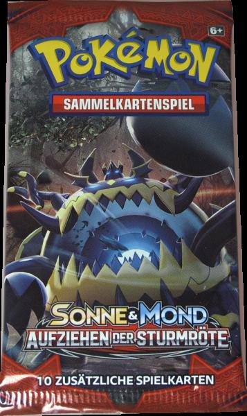 Pokemon Sonne & Mond Aufziehen der Sturmröte Booster