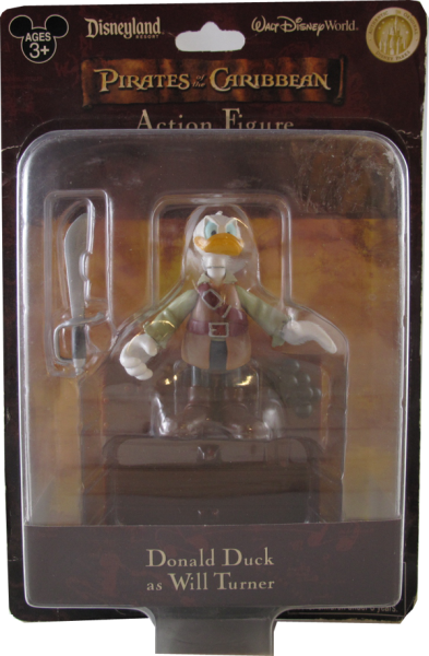 Action Figur Disney Pirates of the Caribbean Donald Duck as Will Turner