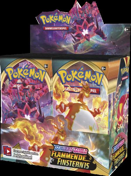 Pokemon Schwert & Schild Flammende Finsternis Booster Display