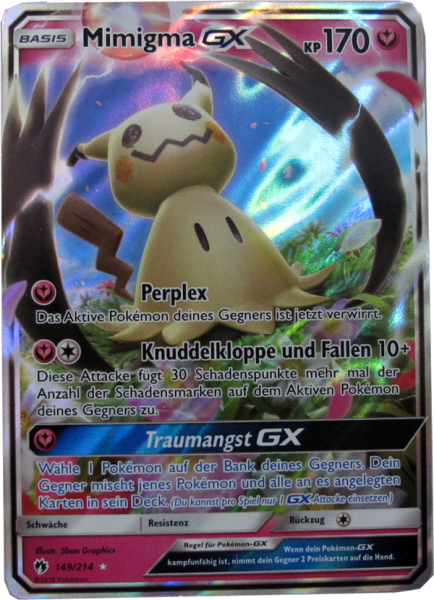 Pokemon Mimigma GX Promo Oversize deutsch