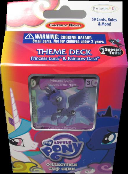 My little Pony Canterlot Nights Theme Deck Princess Luna & Rainbow Dash