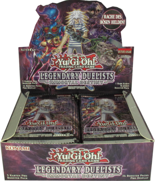 Yu-Gi-Oh! Legendary Duelists Immortal Destiny Booster Display deutsch