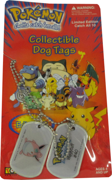 Pokemon Dog Tag Wigglytuff #40