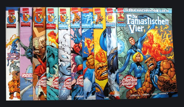 Die Fantastischen Vier - die Rückkehr der Helden # 1-10 Comic Set