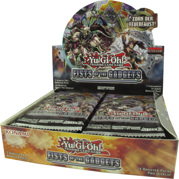 Yu-Gi-Oh! Fists of the Gadgets Booster Display deutsch