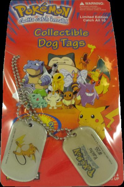 Pokemon Dog Tag Raichu #26