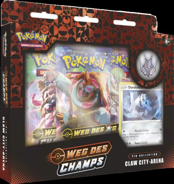 Pokemon Weg des Champs Claw City-Arena Pin-Kollektion deutsch