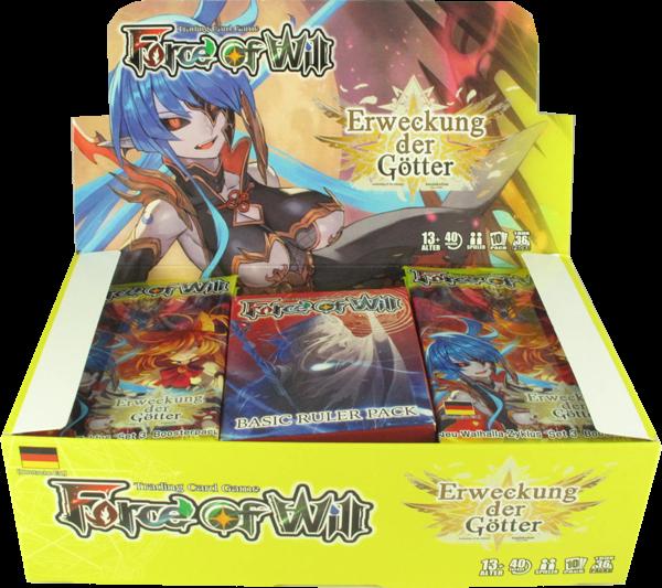 Force of Will Erweckung der Götter Booster Display