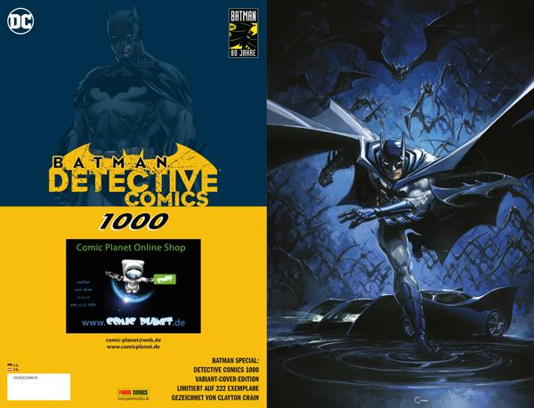Batman Special: Detective Comics 1.000 - Exklusives Comic Planet Variant Cover