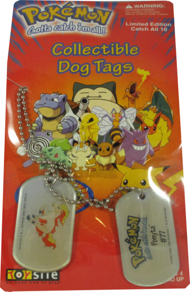 Pokemon Dog Tag Ponyta #77