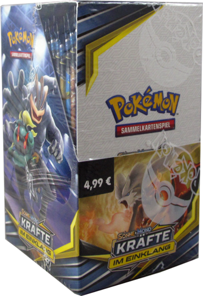 Pokemon Sonne & Mond Kräfte im Einklang 18er Booster Display deutsch