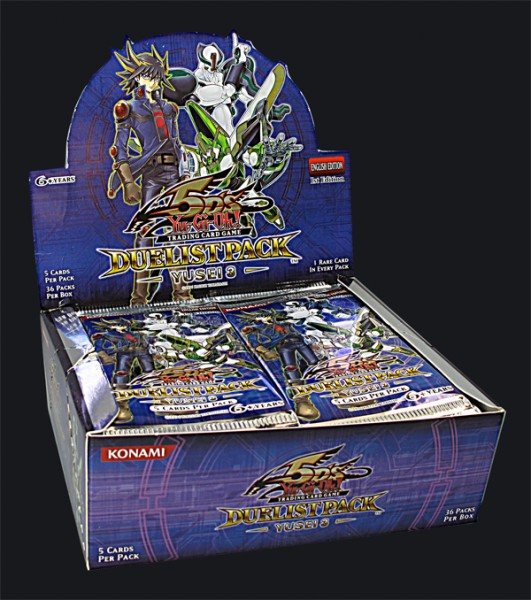 Yu-Gi-Oh! Duelist Pack Yusei 3 Booster Display englisch