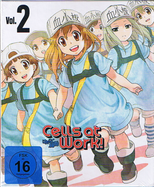 Cells at Work! Vol. 2 DVD+ Blu-ray (2 Disc)