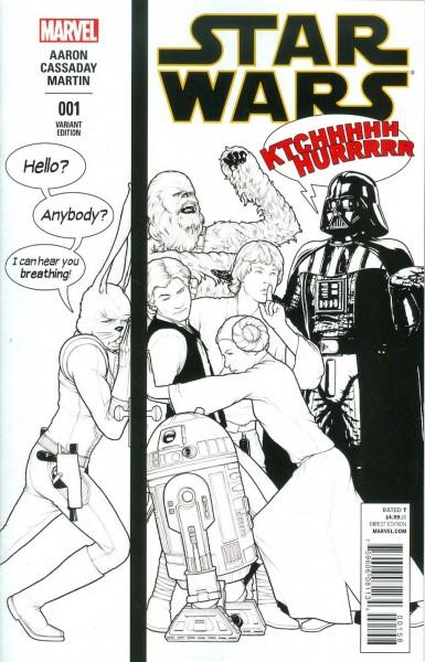 Star Wars Vol 4 #1 Incentive Tyler Christopher Sketch Variant Cover