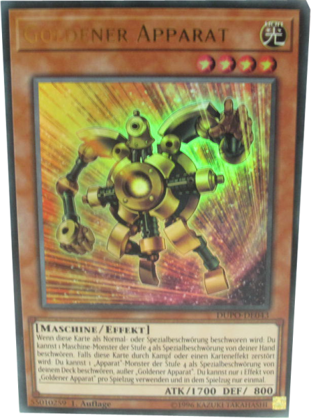 DUPO-DE043 Goldener Apparat