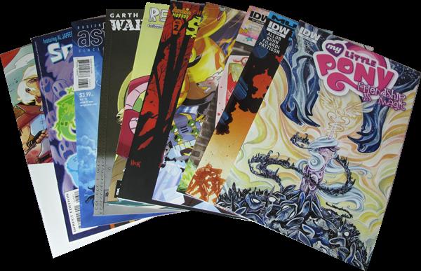 10er Set Diverse Comics
