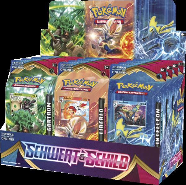 Pokemon Schwert & Schild Themendeck Display