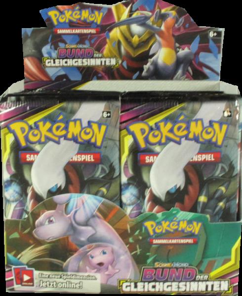 Pokemon Sonne & Mond Bund der Gleichgesinnten Booster Display