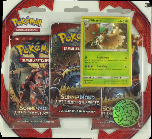 Pokemon Sonne & Mond Aufziehen der Sturmröte 3er Blister Booster