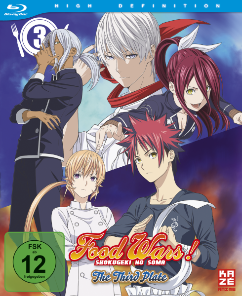 Food Wars! Shokugeki no Soma The Third Plate Vol. 03 Blu-ray