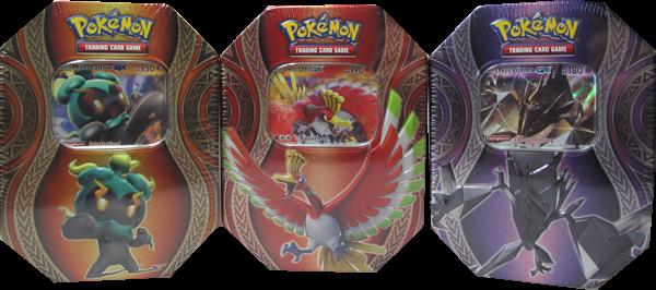 Pokemon 2017 3er Set Tin Box deutsch