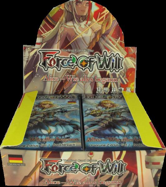 Force of Will Alice Origin Booster Display deutsch