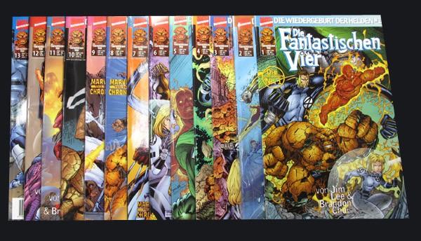Die Fantastischen Vier - die Wiedergeburt der Helden # 1-13 Comic Set