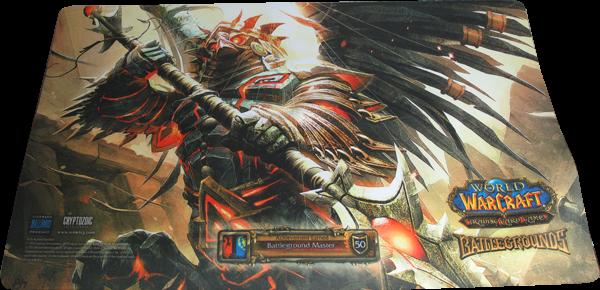 World of Warcraft Playmat Battlegrounds Master Harbinger Sefu