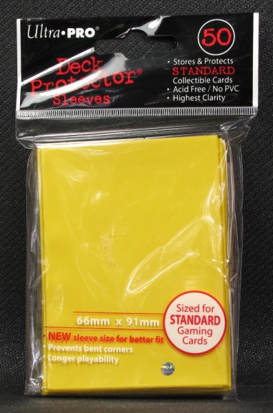 Ultra Pro - Standard - Yellow - 50 Hüllen - Deck Protector Sleeves