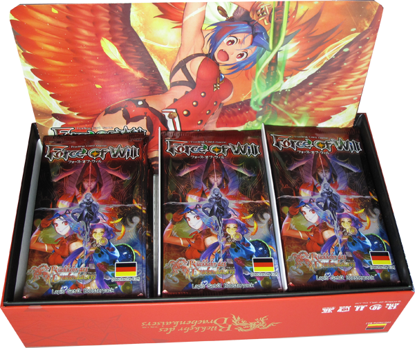 Force of Will Rückkehr des Drachenkaisers Booster Display