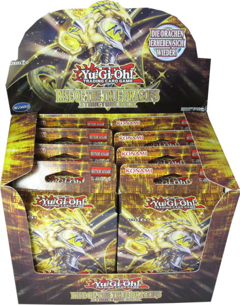Yu-Gi-Oh! Rise of the True Dragons Structure Deck Display