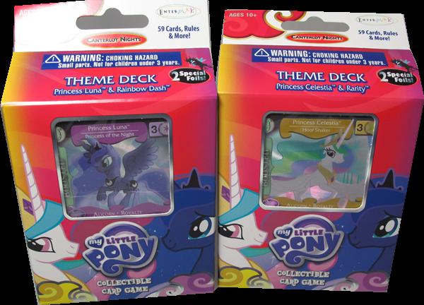 My little Pony Canterlot Nights Theme Deck Set: Princess Celestia & Rarity & Princess Luna & Rainbow