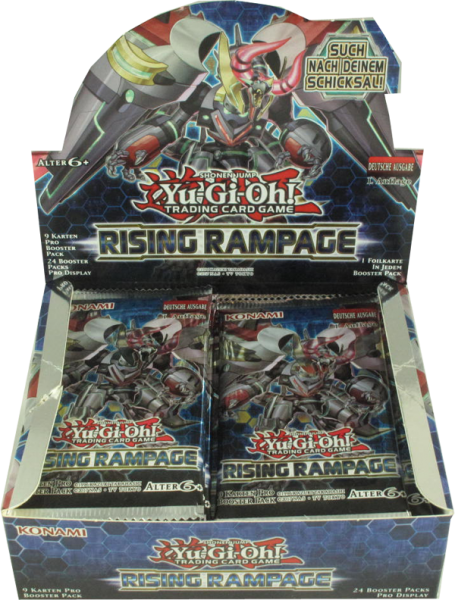 Yu-Gi-Oh! Rising Rampage Booster Display deutsch