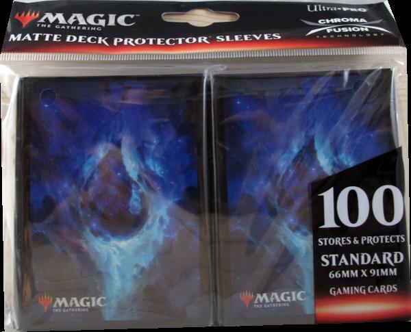 Ultra Pro - Standard Matte Deck Protector Sleeves - Magic Mana Symbol blau - 100 Hüllen