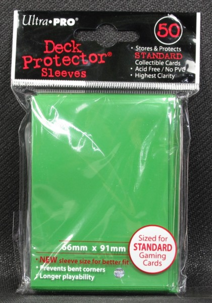 Ultra Pro - Standard - Lime Green - 50 Hüllen - Deck Protector Sleeves
