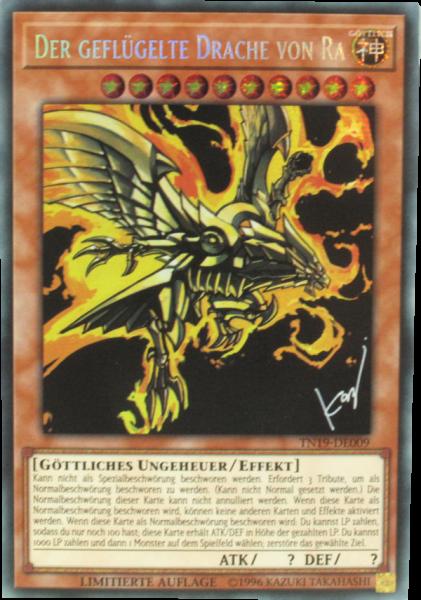 TN19-DE009 Der geflügelte Drache von Ra