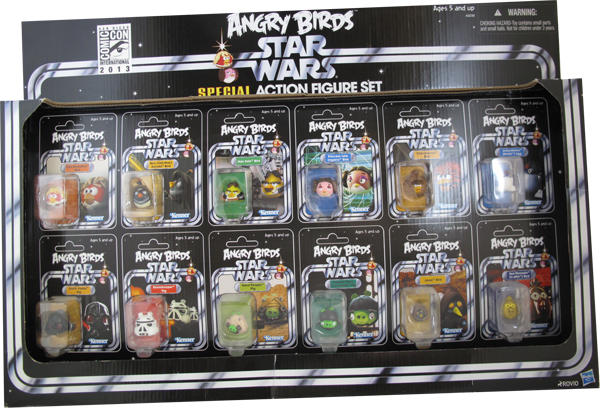Action Figur Star Wars Angry Birds San Diego Comic Con 2013 Set